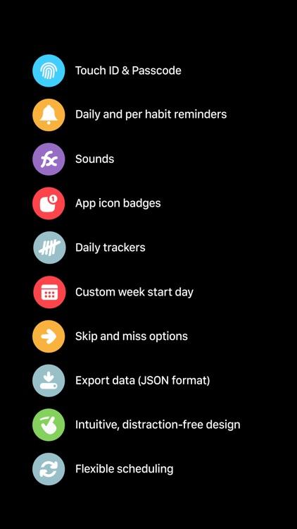 Habit List - routines, goals & habit tracker screenshot-4