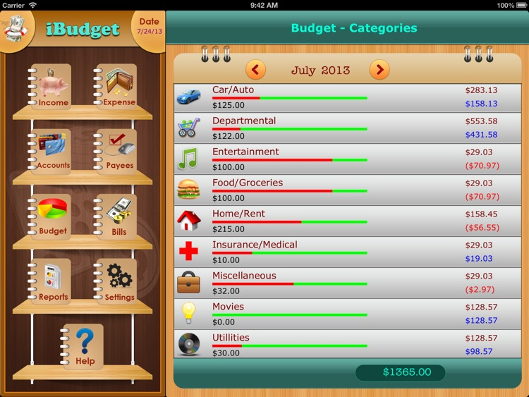 iXpense Tracker for iPad screenshot-0