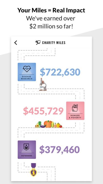 Charity Miles: Walking & Running Distance Tracker screenshot-4