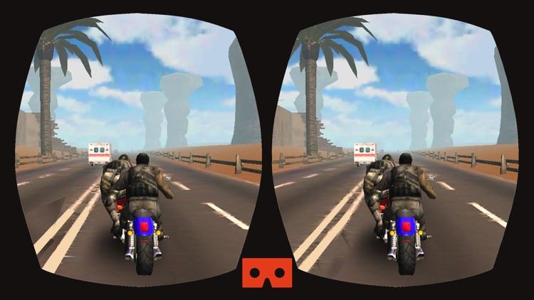 VR Moto Attack Racer : Free Virtual Reality Game screenshot-3