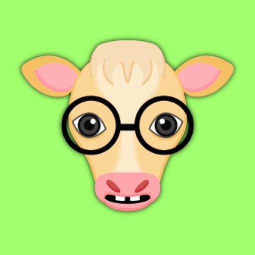 Blonde Cow Emoji Stickers for iMessage