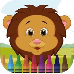 çocuk Oyunları Için Zoo Hayvan Yüz Boyama Kitabı App Storeda