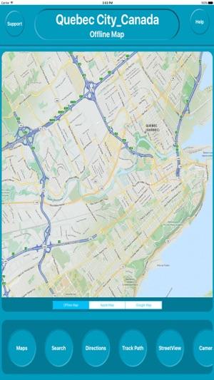 Map Of Canada Quebec City.Quebec City Canada Offline City Maps Navigation