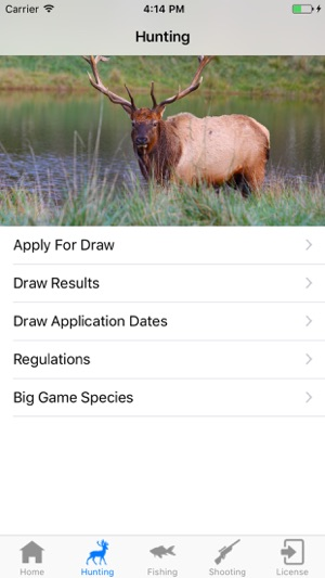 Arizona hunting and fishing on the app store for Az game and fish draw results 2017