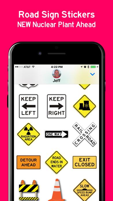 Road Signs Sticker Pack screenshot three