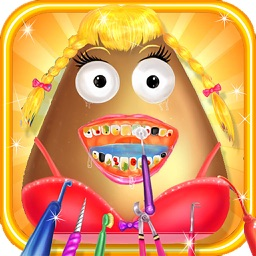 Pou Girl Dentist games for girls - Doctor Games