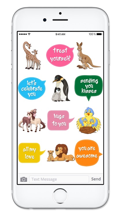 Cute Mom & Baby Animals Mothers Day Sticker Pack screenshot-3