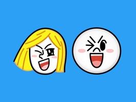 JAMES & MOON Emoji Stickers - LINE FRIENDS
