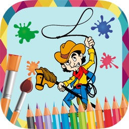 Pirates to paint - coloring book of cowboys