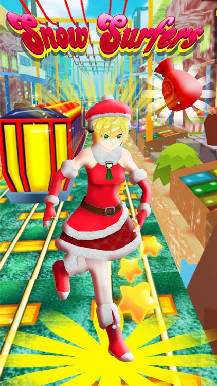 Christmas Run - Snow Princess Train Surfers screenshot-3