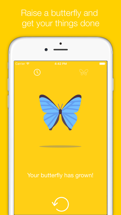 Butterfly: deep focus on one task using work timer | App Price Drops