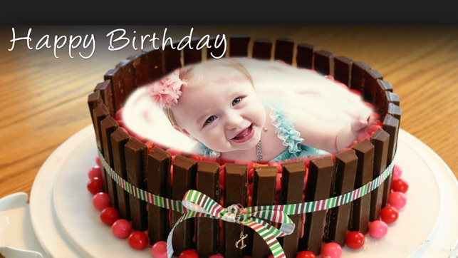 Name Photo On Happy Birthday Cake Im App Store