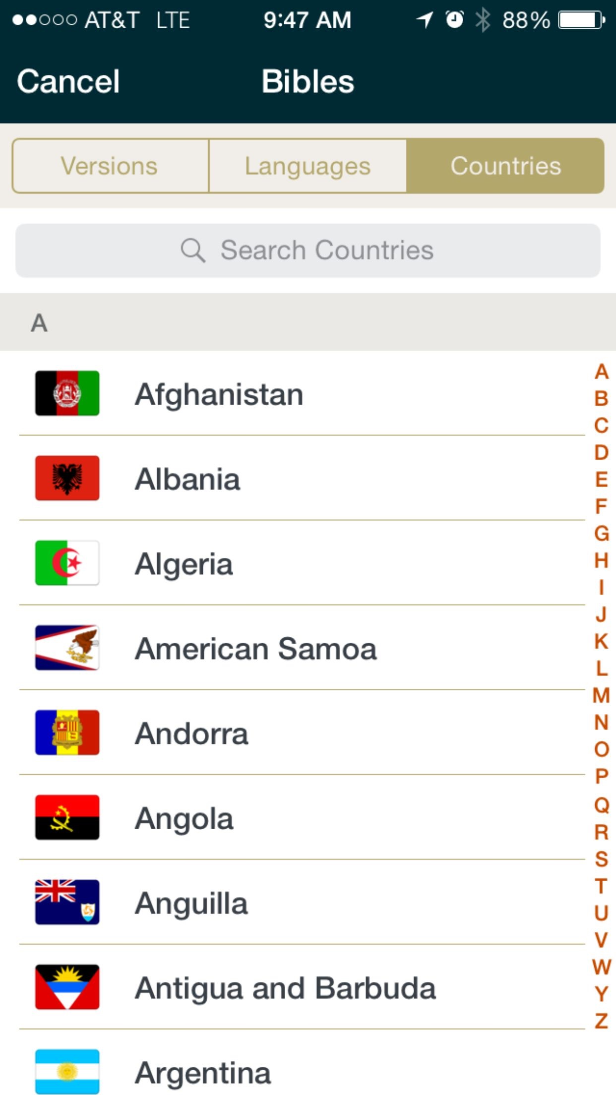 Gideon Bible App Screenshot