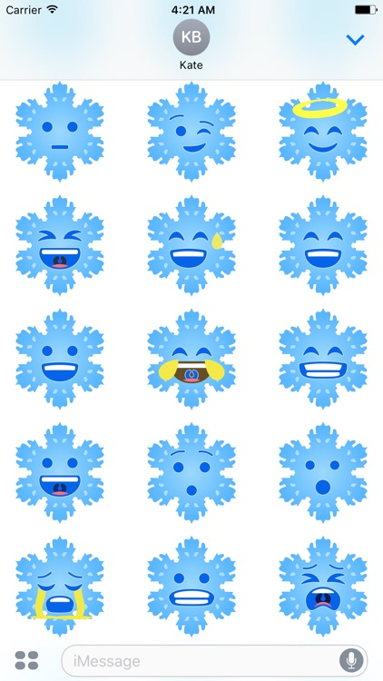 Christmas Snowflakes Stickers screenshot-3