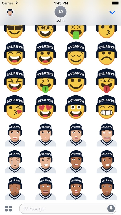 Atlanta Baseball Stickers & Emojis screenshot-4