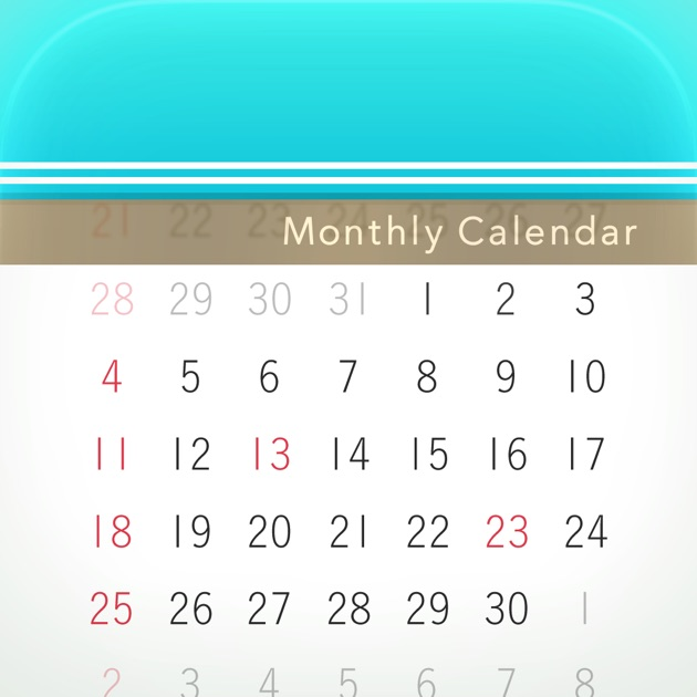Weekly Calendar App : Monthly calendar moca on the app store