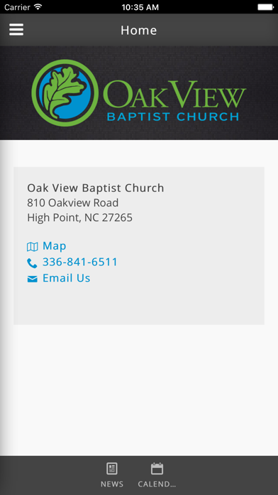 Oak View Baptist Church of High Point, NC screenshot one