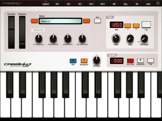 CASSINI Synthesizer for iPad Screenshot