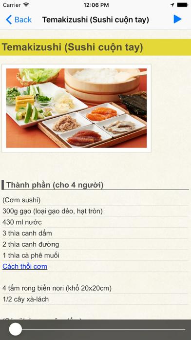 Cùng nấu món ăn Nhật Bản screenshot one