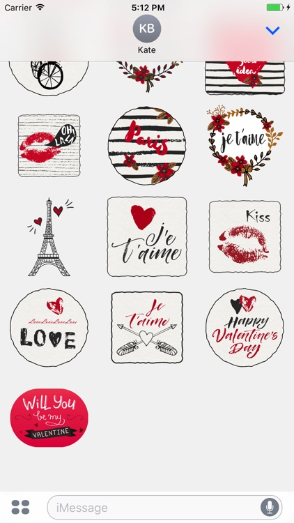 Fall in Love in Paris for iMessage Stickers