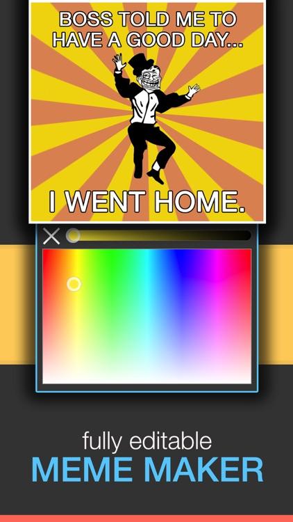 Meme Creator - Memes Generator & Poster Maker screenshot-3