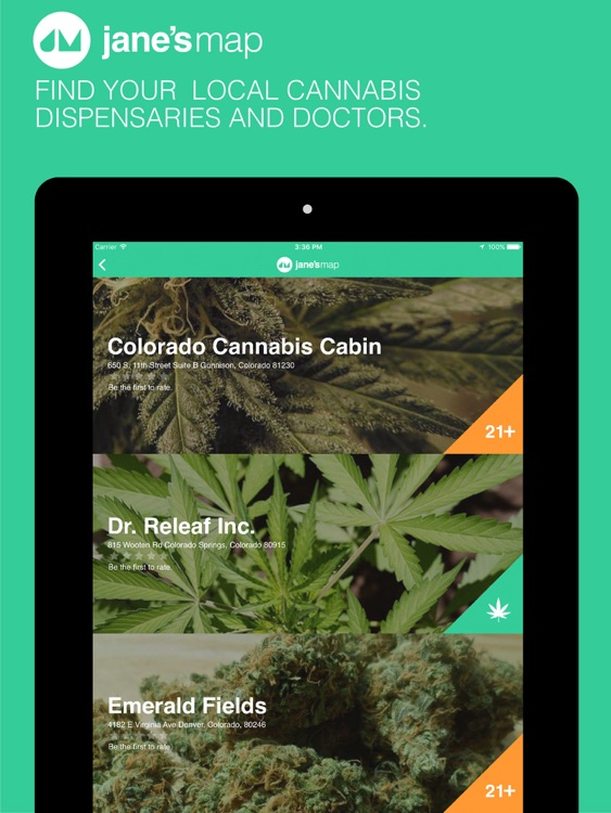 jane's map - find and rate cannabis dispensaries