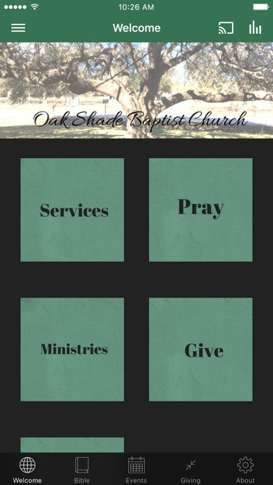 Oak Shade Baptist Church screenshot 1