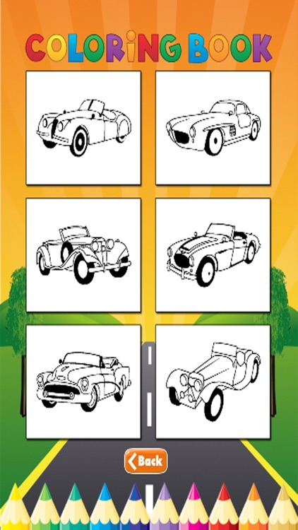 Car Cassic Coloring Book - Activities for Kid screenshot-4
