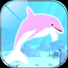 Healing dolphin fish simulation game icon