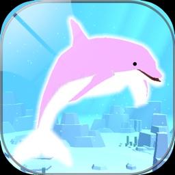 Healing dolphin fish simulation game