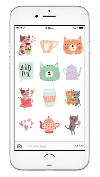 Cats and Coffee Sticker Pack screenshot-2