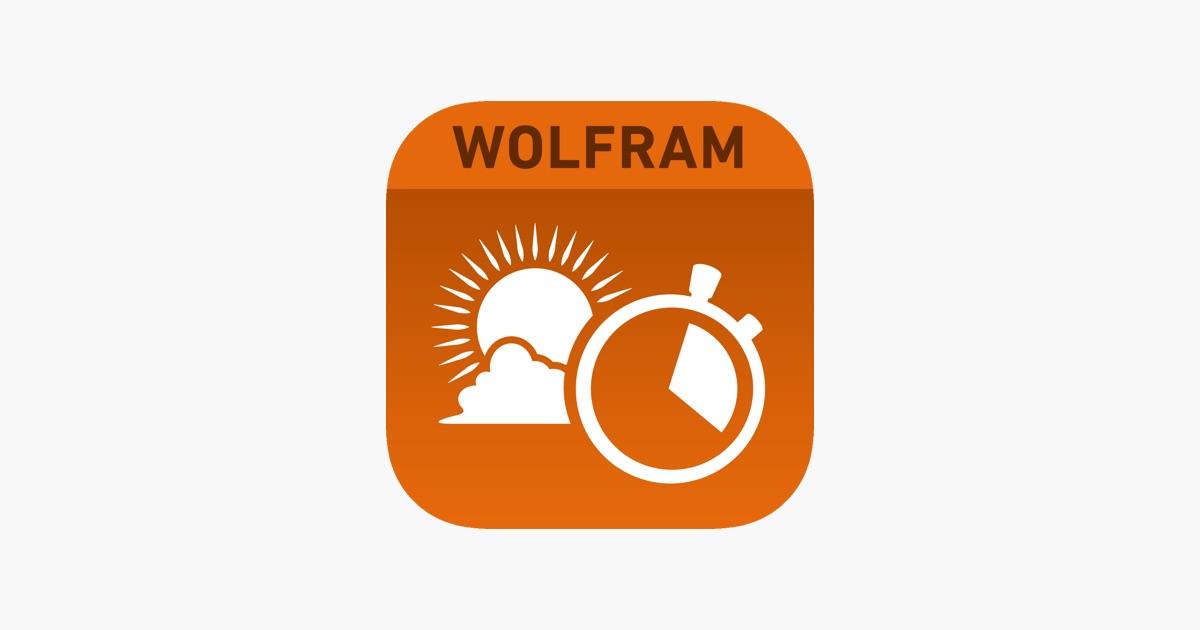 App Store Wolfram Sun Exposure Reference App