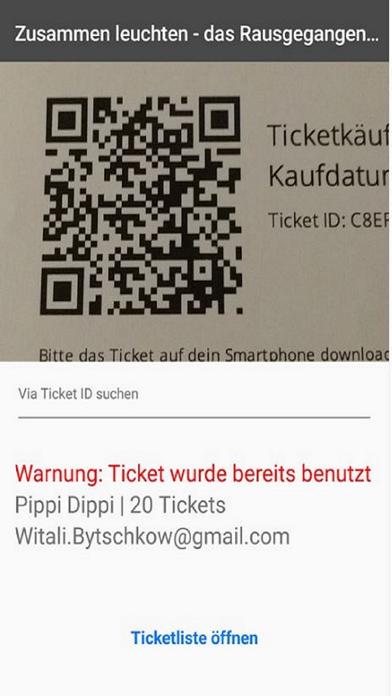 Wunderfest Ticketscanner