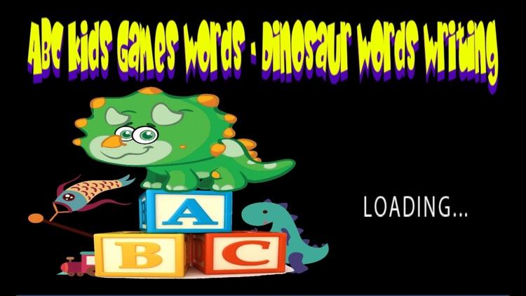 ABC Kids Games Words - Dinosaur Words Writing screenshot-4
