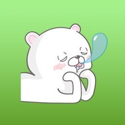 Jam The Funny In Love White Bear Sticker