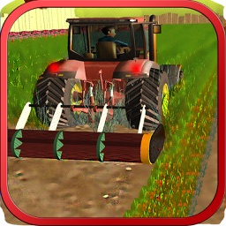 Lawn mowing & harvest 3d Tractor farming simulator