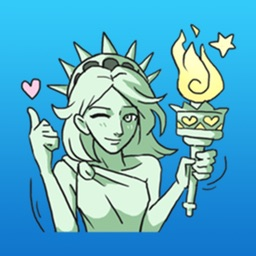 Cosplay The Statue Of Liberty Sticker