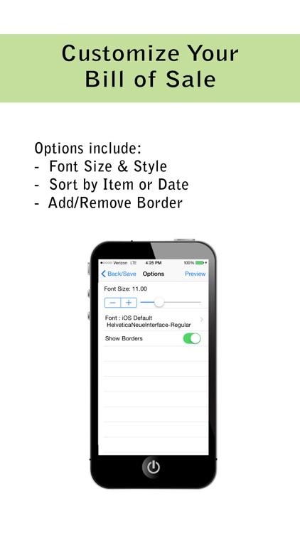 Pocket Bill of Sale Pro screenshot-3