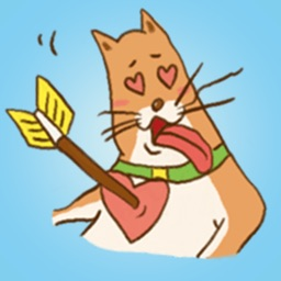 Cute Ginger Cat - Funny Animal Stickers!