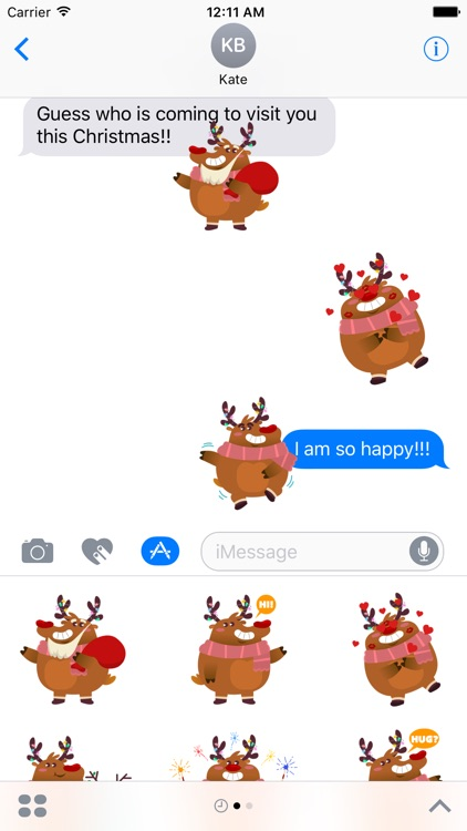 Rudolph the Fluffy Reindeer Stickers