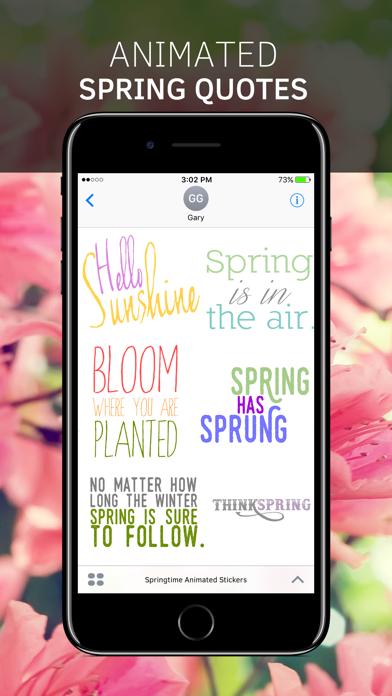 Springtime Animated Stickers screenshot 2