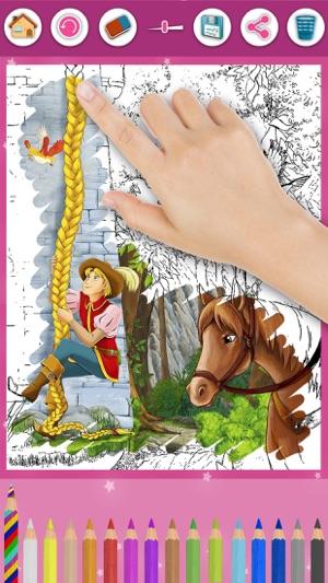 Rapunzel Magic Princess Anak Coloring Pages Perm Di App Store