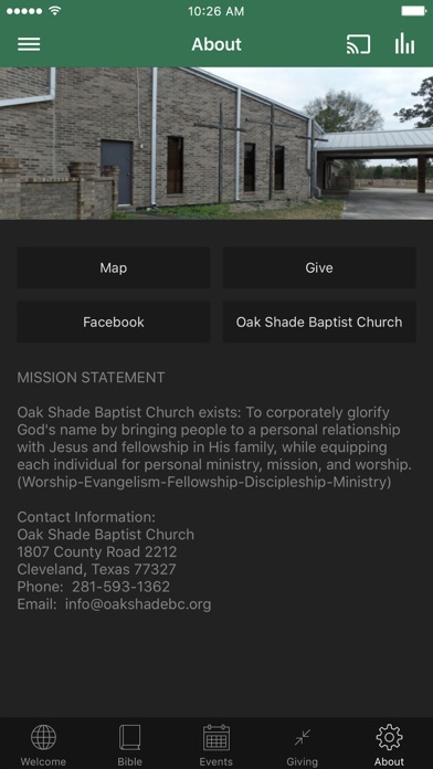 Oak Shade Baptist Church screenshot 3