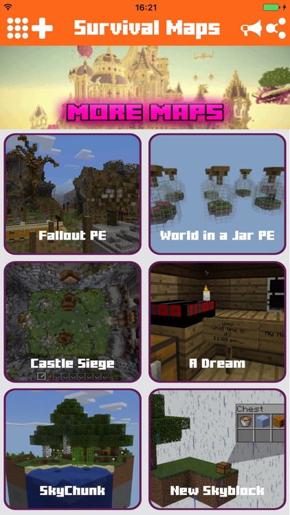 Maps for Minecraft - Survival forgt Pocket Edition