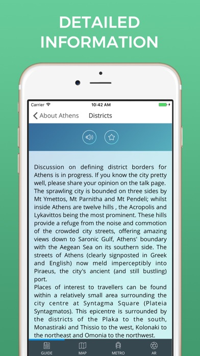 Athens Travel Guide with Offline Street Map screenshot four