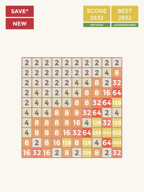 2048 4x4 6x6 8x8 10x10 для iPad