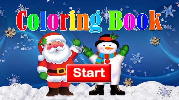 Santa claus and christmas photos coloring book screenshot-3