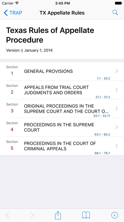 Texas Rules of Appellate Procedure (LawStack's TX) screenshot-0