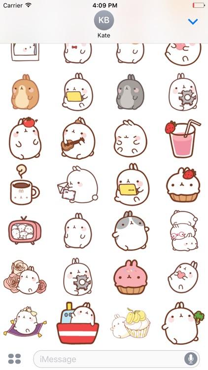 Molang Rabbit - Emoji - Emoticons - Stickers screenshot-3