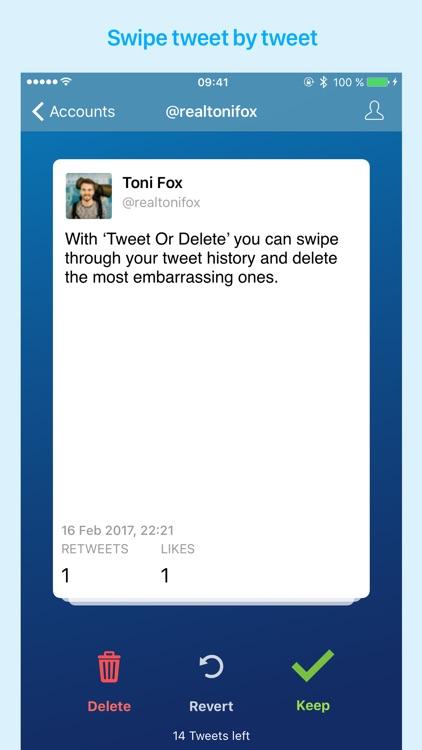 Keep Or Delete Tweets screenshot-0